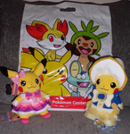 Official Pokemon Center Cosplay Pikachu Plushies by PrettySoldierPetite