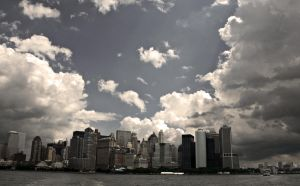 New York City Skyline edited by lowjacker
