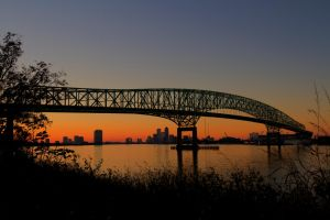 Sunset over the Hart Bridge by 904PhotoPhactory