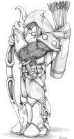 The Dwarven Archer by RedRo