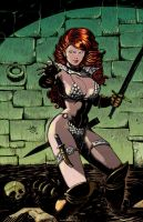 Red Sonja colours version by FrancescoIaquinta
