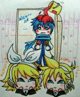 [Mini Challenge] Vocaloid - Kaito's new hair color by HunterK