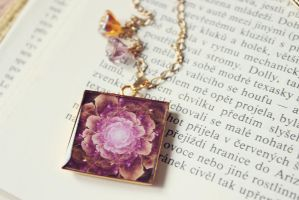 Sweet Dreams - Crystal Resin Pendant/Necklace by lucid-light