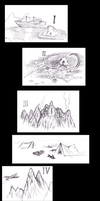Lovecraft - At the Mountains of Madness - Sketches by KingOvRats