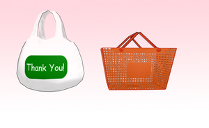 MMD Shopping bag and basket by amiamy111