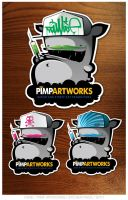 StickerPack by KIWIE-FAT-MONSTER