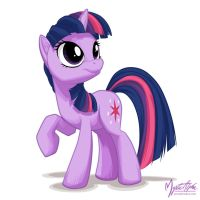 Twilight Sparkle Looking Up by mysticalpha