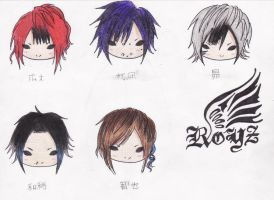 Chibi Royz Colored by JapaneseMusic-Freak