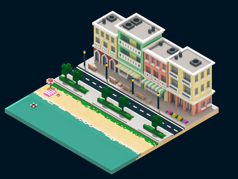Voxel City Scene by gendosplace