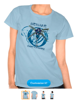 Betty-Blue Beware Fairy ~Women's Hanes T-Shirt by tessieart333