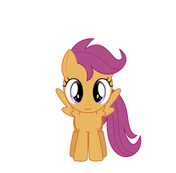 Scootaloo looking at you by Bronyponygal