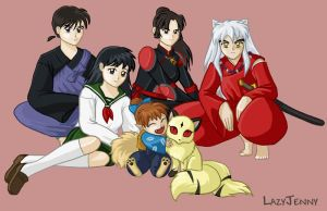 The Inuyasha gang by LazyJenny