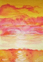Quick Sunset ATC by unSpookyLaughter