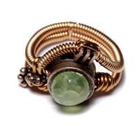 Steampunk ring phrenite by CatherinetteRings