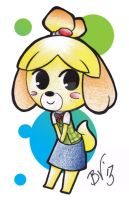 chibi isabelle by BlueValkyrie