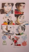 AVATAR: LoK - How I See Them by lolbenjo