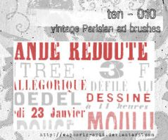 Vintage Parisian ad brushes by euphoric-acid