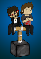 CaptainSparklez (with Usher) by JCShirotami