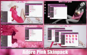 Adore Pink Skin Pack For Windows 8/8.1/7 by TheDhruv
