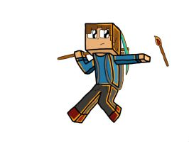 Minecraft Character Doodle by SheaDidThis
