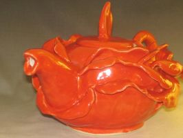 red rose teapot by RedHeadedPotter