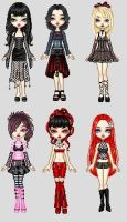 Goth Disney Princesses by UberxMoMo