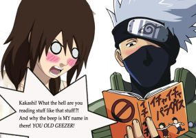 Kakashi the perv by JustJusti