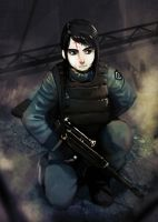 Soldier girl by Roguetwo