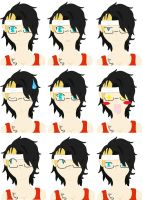 The many faces of Maggi by LubzAnime