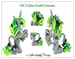 OC Cyber Goth Unicorn by ShaidySkyDesign