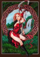 Knotwork and the Witch by LionsDreaming