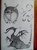 if pokemon was drawn by tim burton by Lovemeinwinter