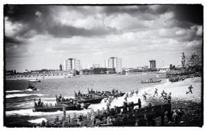 D-Day Cellebrations  Beach landing Southsea 2014 by Bazz-photography