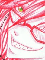 Grell: All in red 2 by Kamirella
