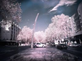 Kuhdamm Berlin infrared by MichiLauke