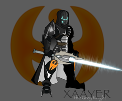 Xaayer the Grey Knight with Sword by Xaayer