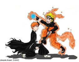 Naruto vs Bleach by Amand4