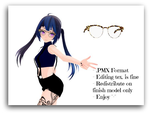[MMD] Leopard Print Glasses (Download) by TsumTsumi