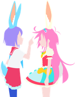 Flip Flappers minimalism by Carionto