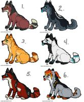 Wolf Adoptables 8 by Fells-Adopts