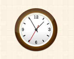Wall Clock Icon (PSD) by softarea