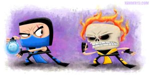 Sub Zero Vs Scorpion by xanderthurteen