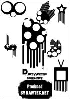 Dirty Vector Brush Set 2 by rAwtec