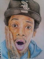 Wiz Khalifa Colored Pencil by DevonteGleason