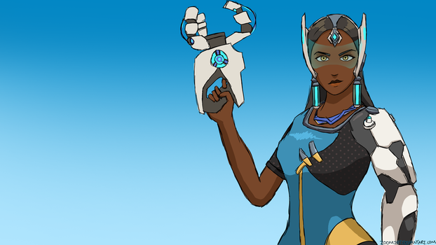 Symmetra Joins The Fight by ZoomJet