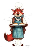 Victorian Zootopia Gideon Grey baker fox by FairytalesArtist