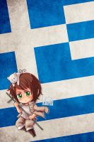 Hetalia iWallpapers - Greece by Dreamweaver38