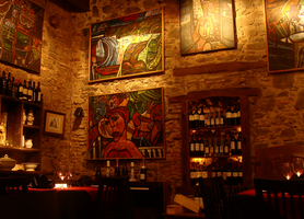 Restaurant by Manwathiell-Stock