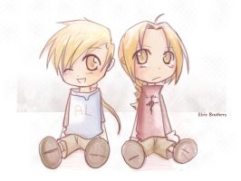 chibi elric brothers color by jinyjin