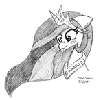 .:Commission:. Silly Celestia by Mane-Shaker